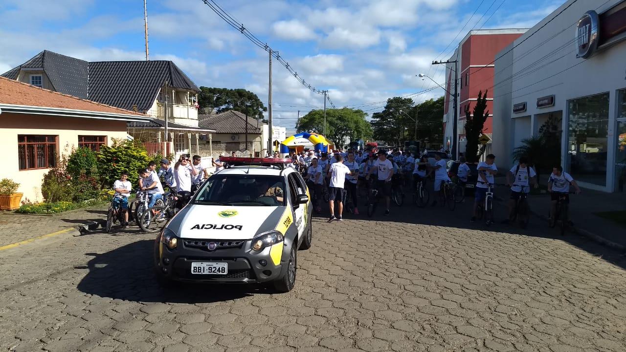 2º Passeio Ciclístico organizado pela PM de São Mateus do Sul