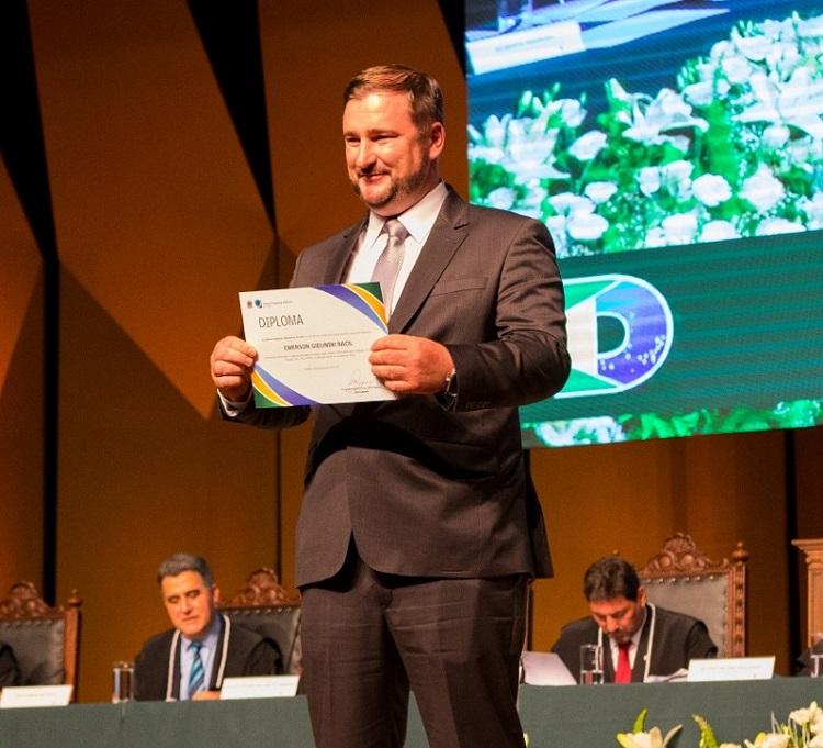 Emerson Bacil (PSL) é diplomado Deputado Estadual