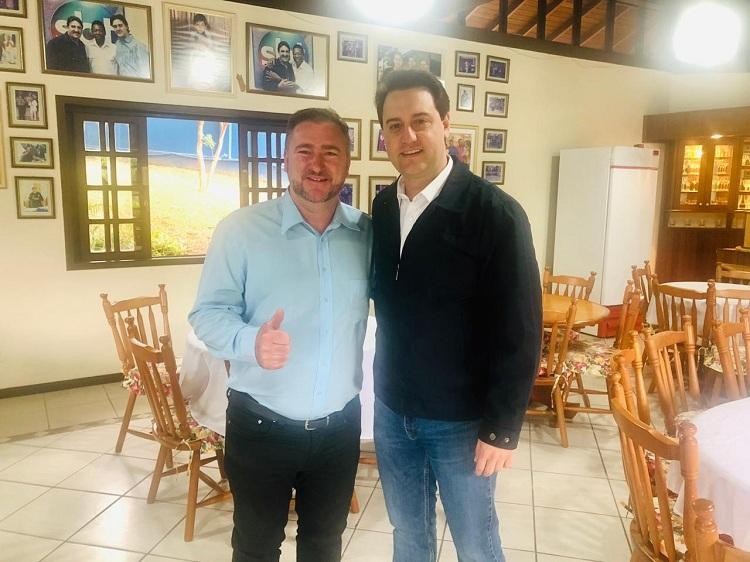 Deputado tem agenda com Ratinho Júnior e garantia de apoio regional