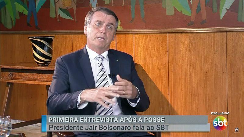 Em sua 1ª entrevista Bolsonaro fala sobre armas, EUA e aposentadoria