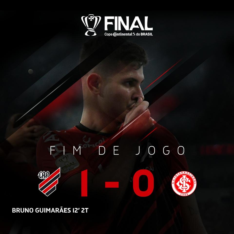 Internacional e Athetico abrem decisão da Copa do Brasil com vitória paranaense por um gol