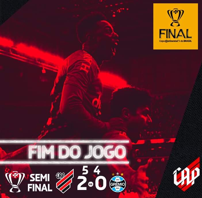 Atlhetico elimina Grêmio e vai disputar final da Copa do Brasil