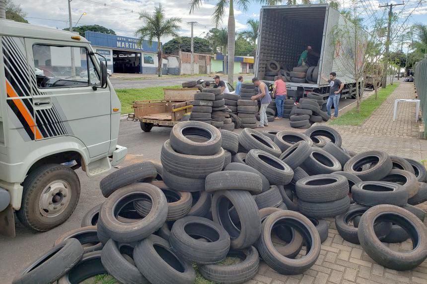 Logística reversa de pneus atenderá todos os municípios