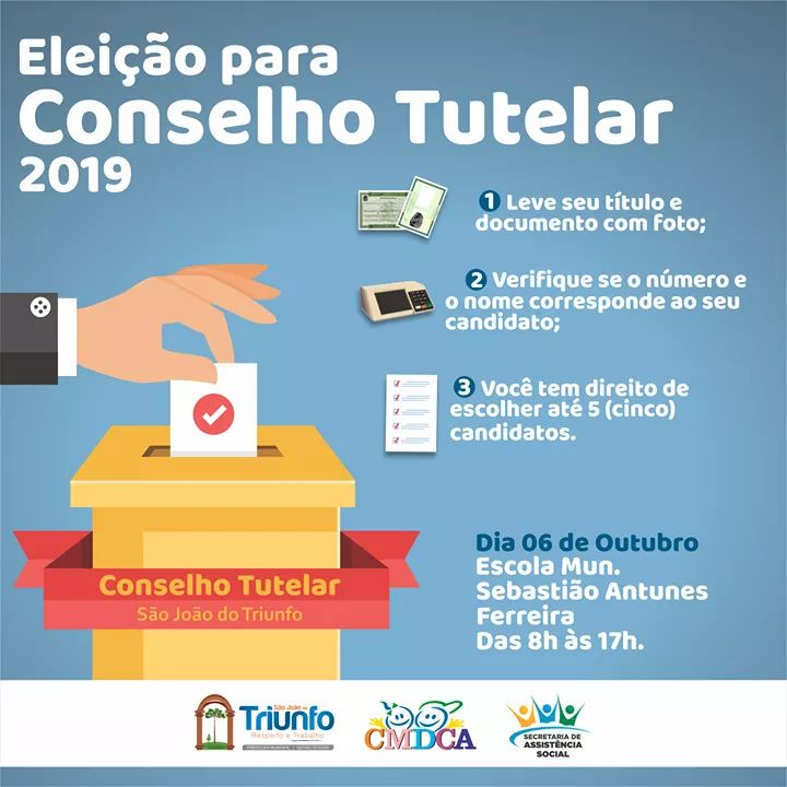 São João do Triunfo elegeu os cinco novos conselheiros tutelares, neste domingo