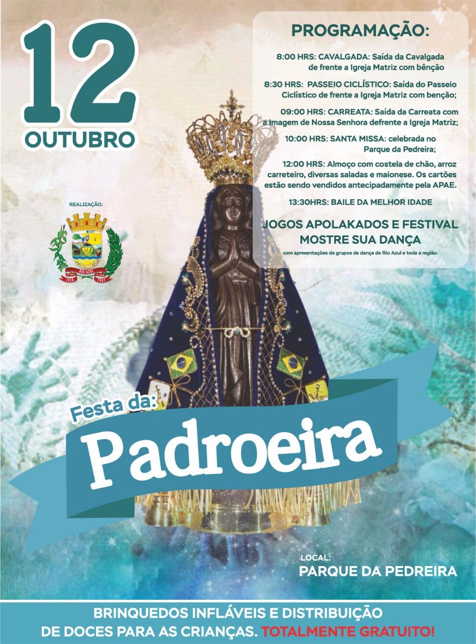 Parque da Pedreira centraliza  Festa de Nossa Aparecida no  próximo dia 12, em Rio Azul