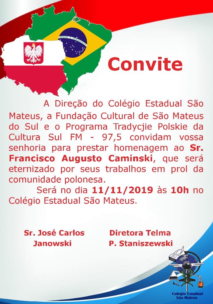 Evento cultural com alunos do Colégio São Mateus valoriza poloneses e fixa coluna representativa da etnia no PR