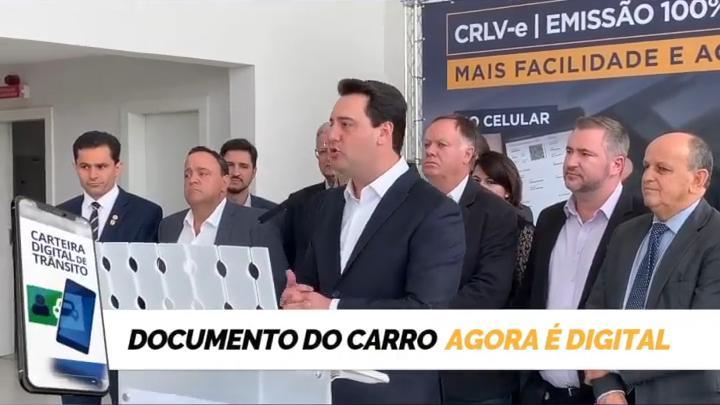 Paraná já emite Registro de Licenciamento de Veículo eletrônico