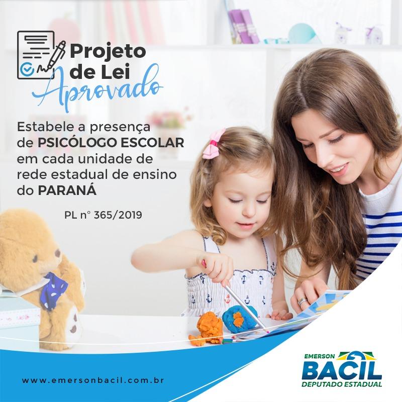 Paraná é o primeiro estado no país com aprovação da Lei (PL365/2019) de psicólogos em escolas