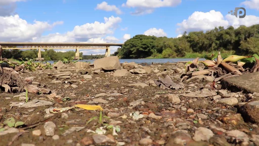 Gravidade da seca no rio Iguaçu