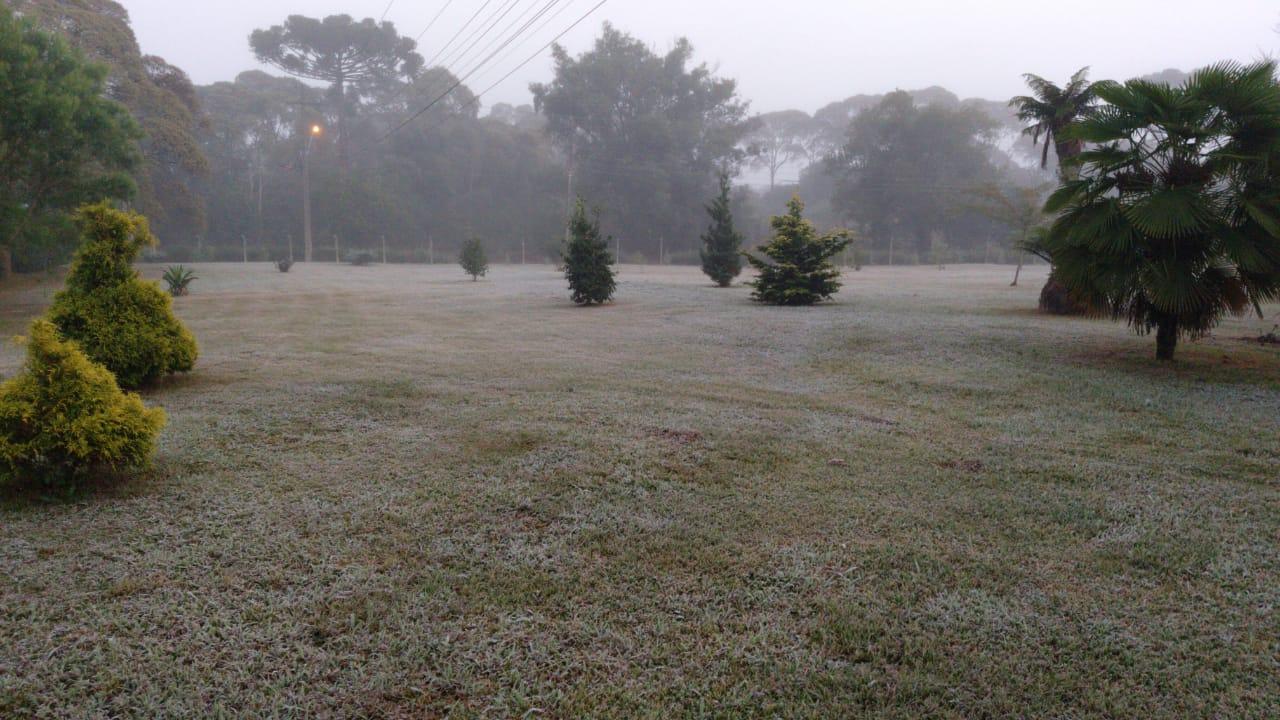 Dia amanhece gelado em São Mateus do Sul e região