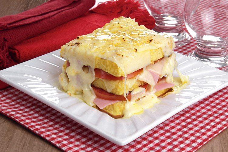 Receita de sanduíche de forno gratinado