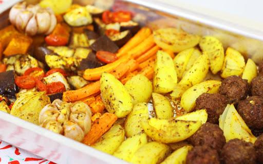 Receita de Assado de Legumes e Carne