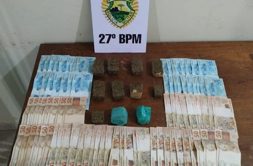Casal é detido por suposta venda de drogas e com R$ 7,2 mil