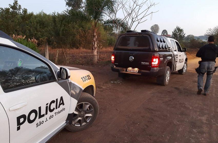 PM e Civil desmantela ponto de tráfico de drogas em São João do Triunfo