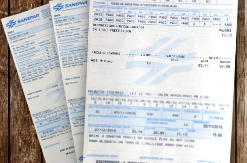 Reajuste da tarifa da Sanepar será aplicado em outubro