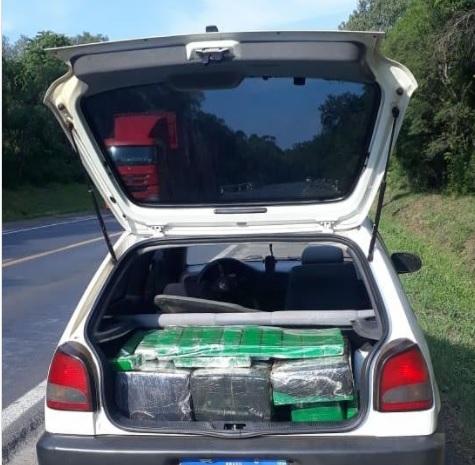 Polícia prende em Paula Freitas homem que transportava 288 Kg de maconha