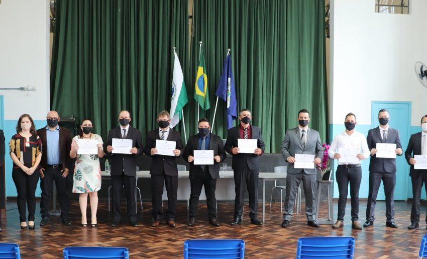 Diplomados: prefeita, vice e vereadores eleitos em São Mateus do Sul