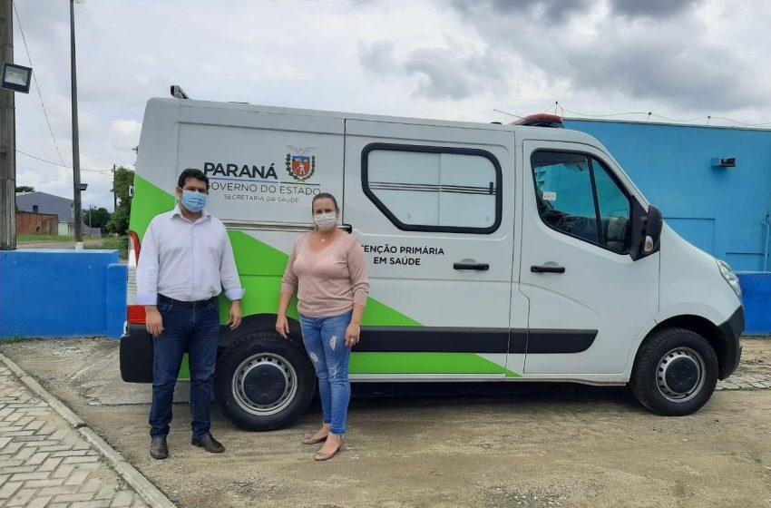 Prefeitura de Antônio Olinto disponibiliza nova ambulância para atendimento
