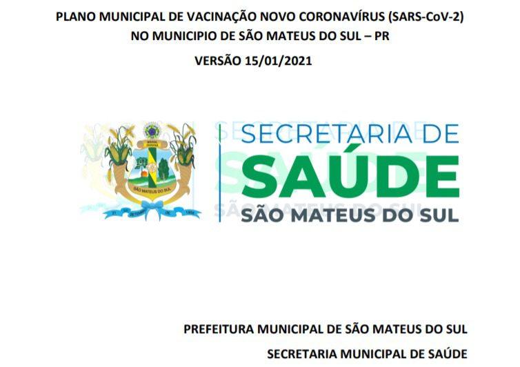 Prefeitura de São Mateus do Sul divulga do Plano de Vacinação contra Covid-19