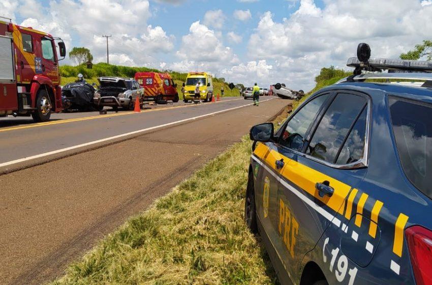Acidente deixa um morto e feridos na BR-277, em Guarapuava
