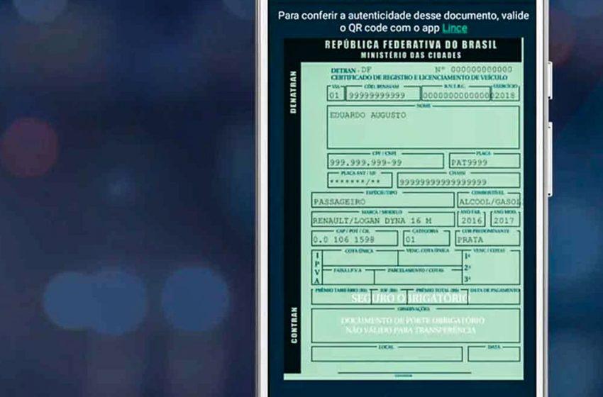 Contran autoriza documentos digitais para os veículos