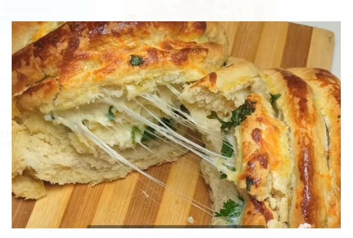 Receita pão de alho caseiro recheado