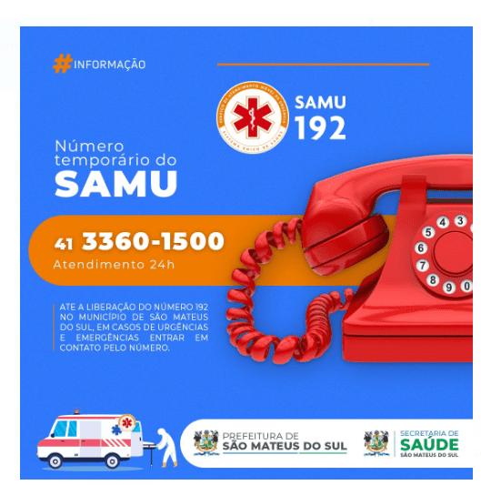 Por questão técnica, SAMU funciona no telefone fixo até operadora liberar o 192