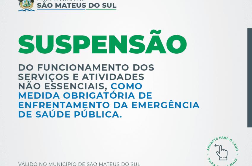 Prefeitura de São Mateus do Sul reafirma bloqueio total e emite Decreto