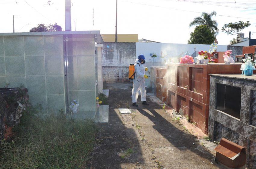 Cemitério de São Mateus do Sul é dedetizado contra Aedes aegypti