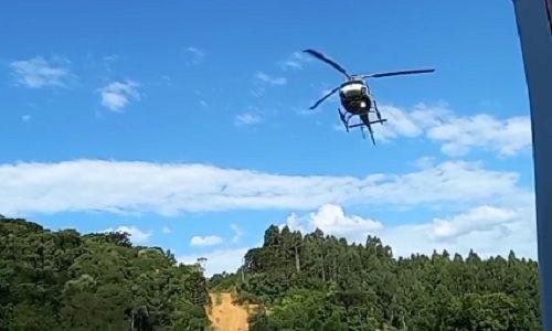 Jovem é transferida de helicóptero após acidente em Bituruna