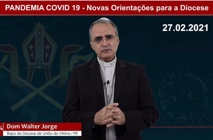 Bispo recomenda seguir as determinações em Saúde, para os fiéis da região