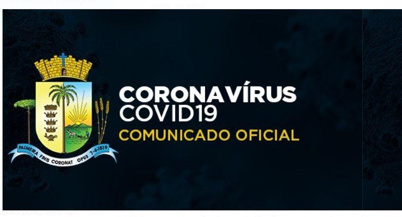 Palmeira tem mais um óbito e registra 46 novos casos de Covid-19