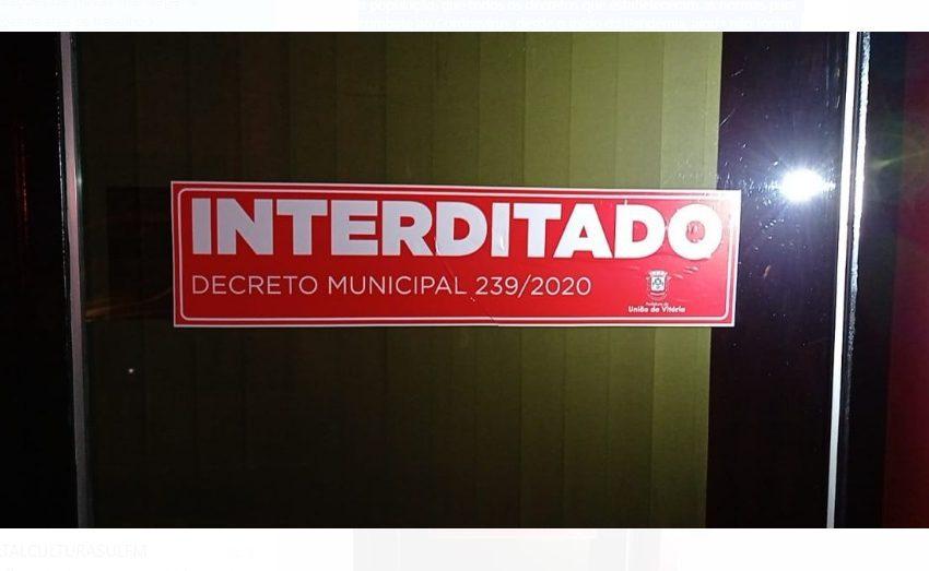 União da Vitória fiscaliza cumprimento de decretos e notifica irregularidades