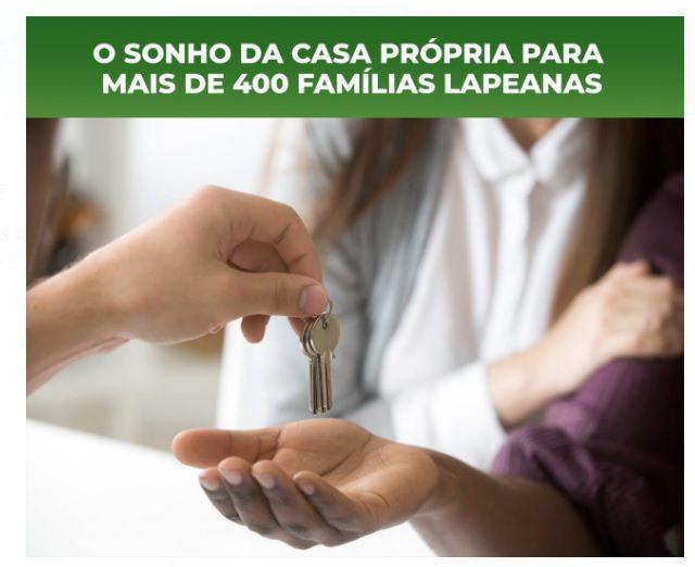 Lapa abre seleção de casa própria para mais de 400 famílias