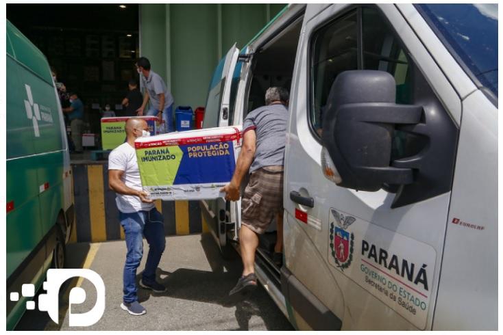 Distribuição de kits de intubação e vacinas: 8º lote chega ao Paraná