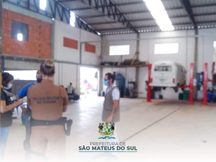 Fiscalização aplica 12 multas por descumprimento de decreto em São Mateus do Sul