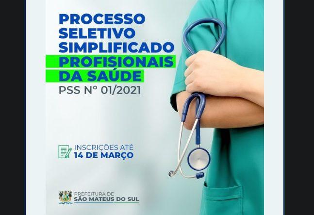 Prefeitura de São Mateus do Sul abre processo seletivo para contratação de profissionais da saúde