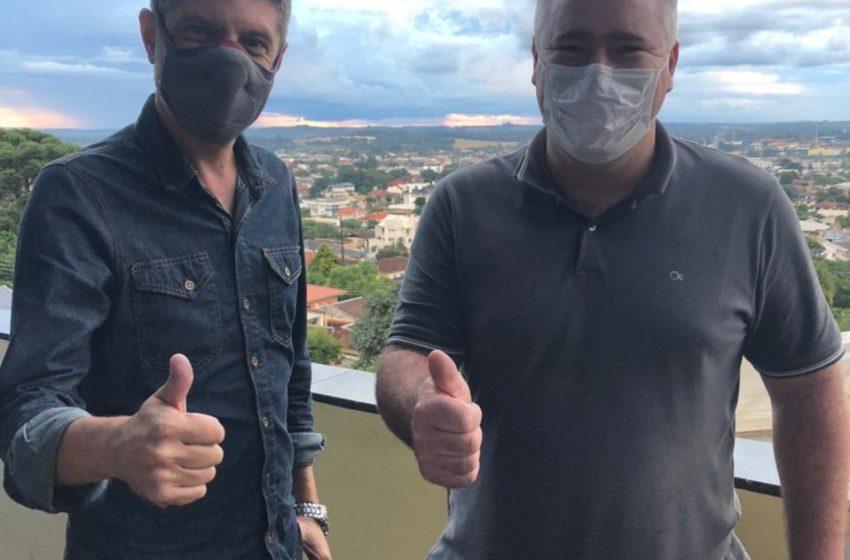 Capitão Saulo, vice prefeito de Ponta Grossa visita São Mateus do Sul