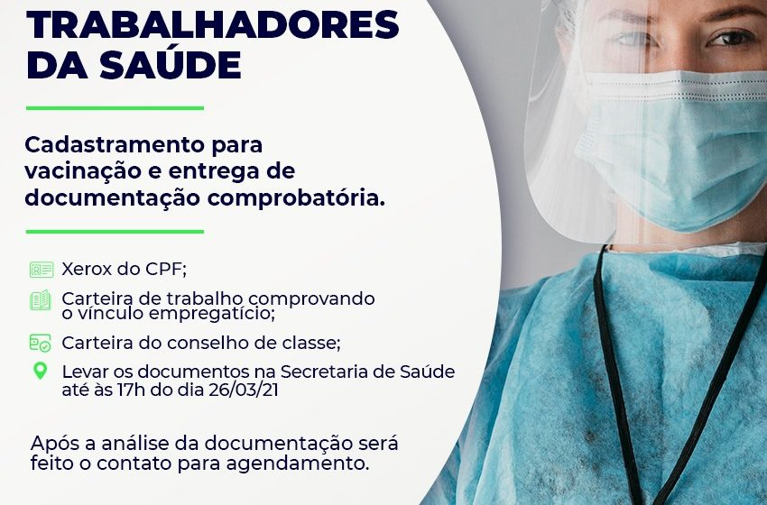 Vacinação: trabalhadores da saúde