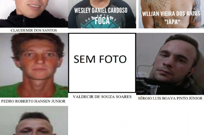 9 detentos fogem da cadeia em União da Vitória, neste sábado