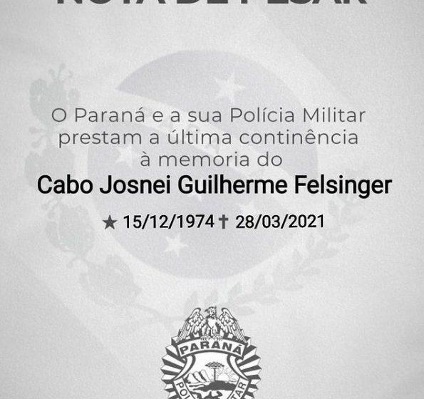 Policial falece após internamento por complicações da Covid-19, em União da Vitória