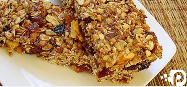 Receita Barrinha de Cereal Caseira