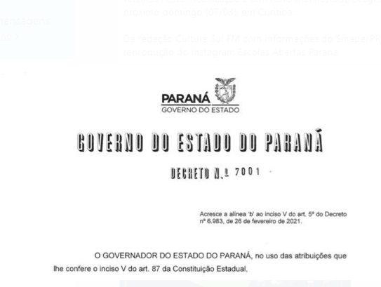 Alteração no Decreto permite abertura de estabelecimentos para motoristas nas rodovias do PR