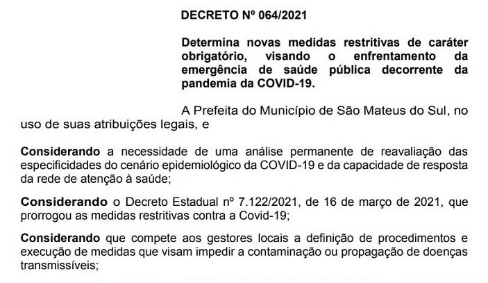 Prefeitura emite Decreto para regulamentar o comércio e serviços no município