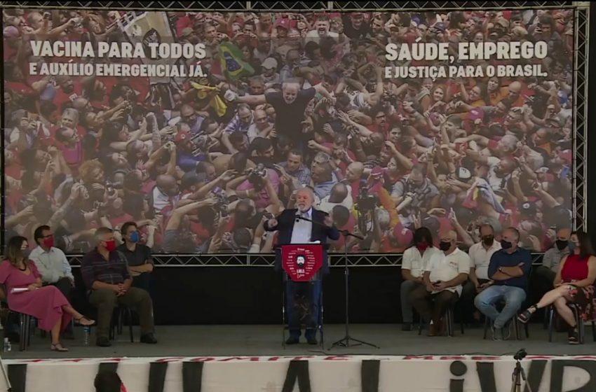 Contraditório e se colocando como imaculado, Lula vendeu esperança em discurso de cunho partidário contra Bolsonaro