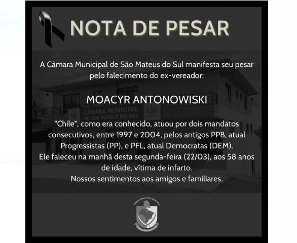 Ex-vereador Chile faleceu no Mato Grosso e velório será na Central de Luto Bom Jesus