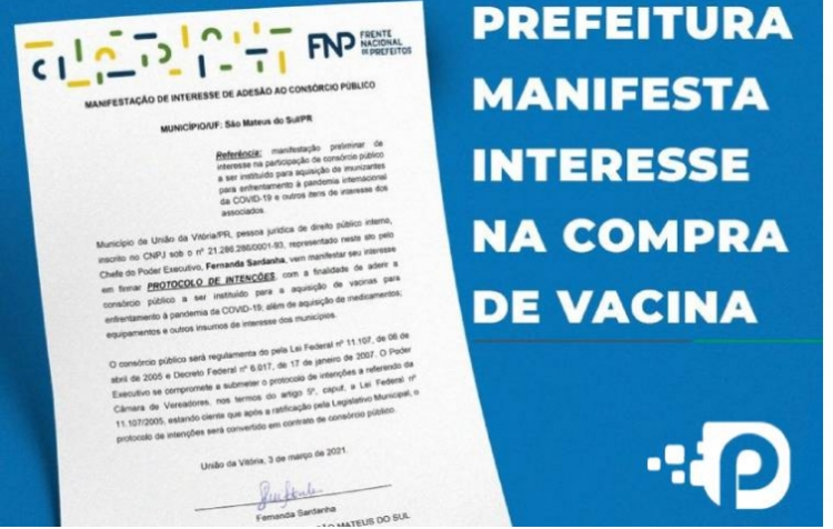 Prefeitura de São Mateus do Sul anuncia participação no consórcio da vacina