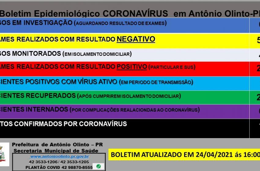 Antônio Olinto tem mais um óbito confirmado de Covid-19, paciente estava internado