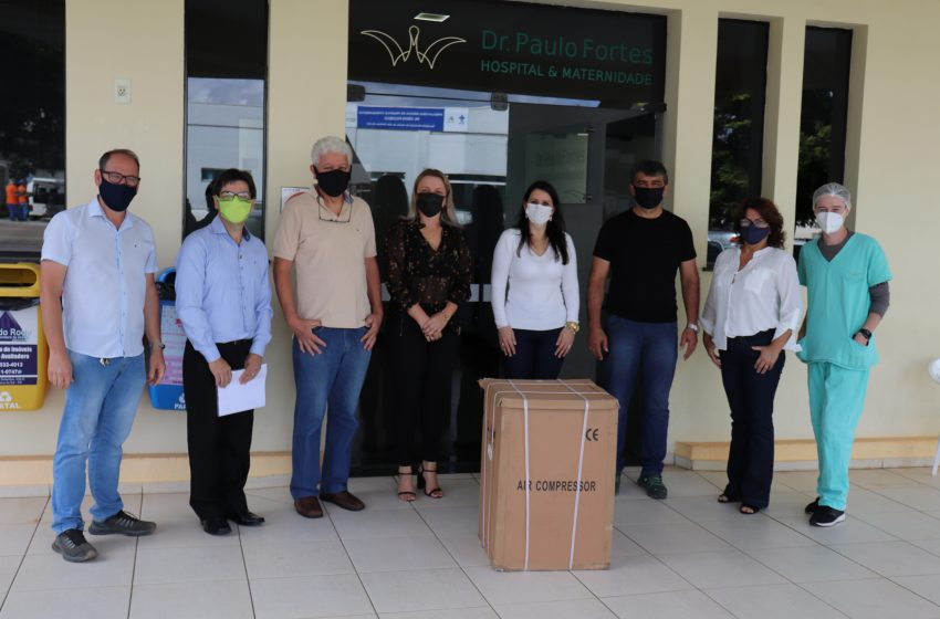 Hospital recebe doação que vai ajudar no tratamento de pacientes da ala de isolamento respiratório