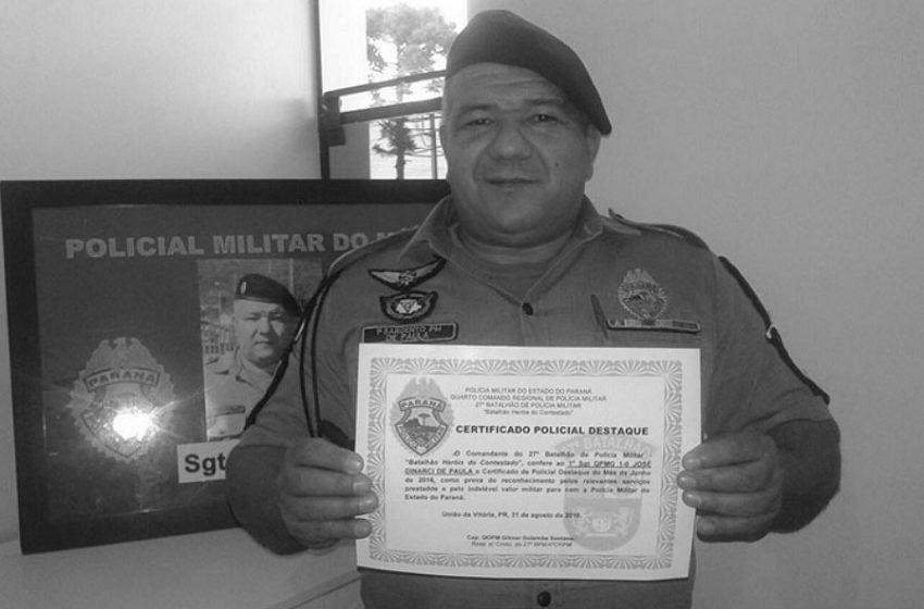 Subtenente José Dinarci De Paula faleceu de Covid-19 na UTI de União da Vitória
